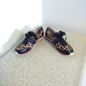 Kate Spade NY Leopard Print Calf Hair Sneakers
